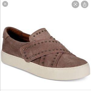 Frye Nina Stud Slip Dusty Rose Platform Shoes